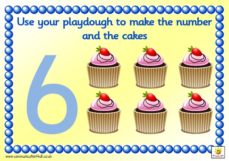 Set of A4 mats. Pupils create the number shape out of playdough and then the correct number of cakes, 1-10. Numbers are Sassoon formation except for 1 - which shows a straight line (less confusing than having the stroke at the top)