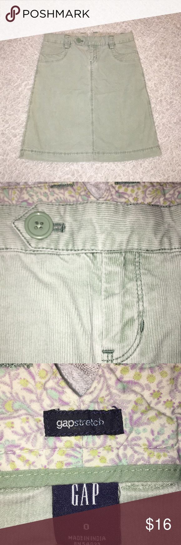 Mint Green GAP Corduroy Skirt Mint Green GAP Corduroy Skirt Great condition  98% cotton 2% spandex GAP Skirts Mini