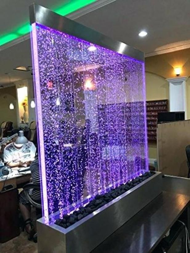 Indoor Waterfalls Offer The Perfect Combination Of Sophisticated Brilliance And Natural Relax Indoor Waterfall Led Color Changing Lights Indoor Water Fountains