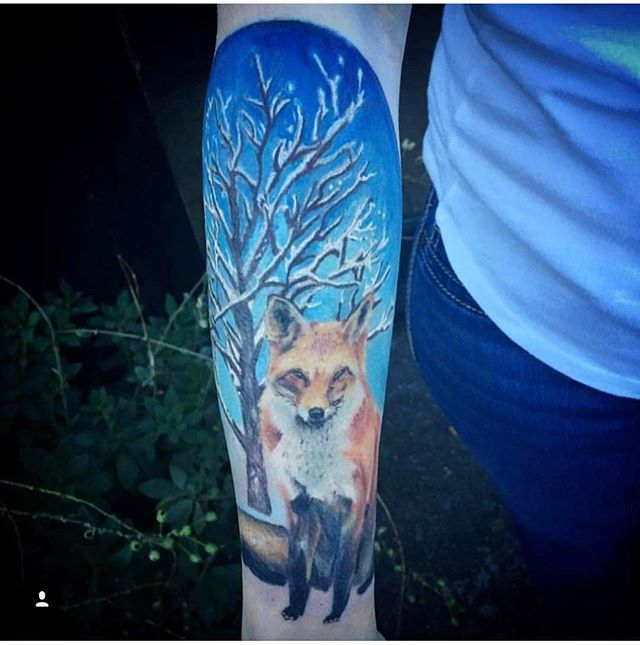 Tattoo done by @daniel_idle_hands  Swing by to book an appointment and/or for any questions you might have, Enjoy! . . . #TattoosofInstagram #CentralCoast #MontereyBay #Monterey #SeeMonterey #FirstCityTattoos #AnimalTattoo #FoxTattoo #SceneryTattoo #ColorTattoo #Tattoos #TattooShops #CSUMB #NavalPostGraduateSchool #montereylocals - posted by The First City Tattoo Co. https://www.instagram.com/thefirstcitytattoocompany. See more of Monterey Bay at http://montereylocals.com