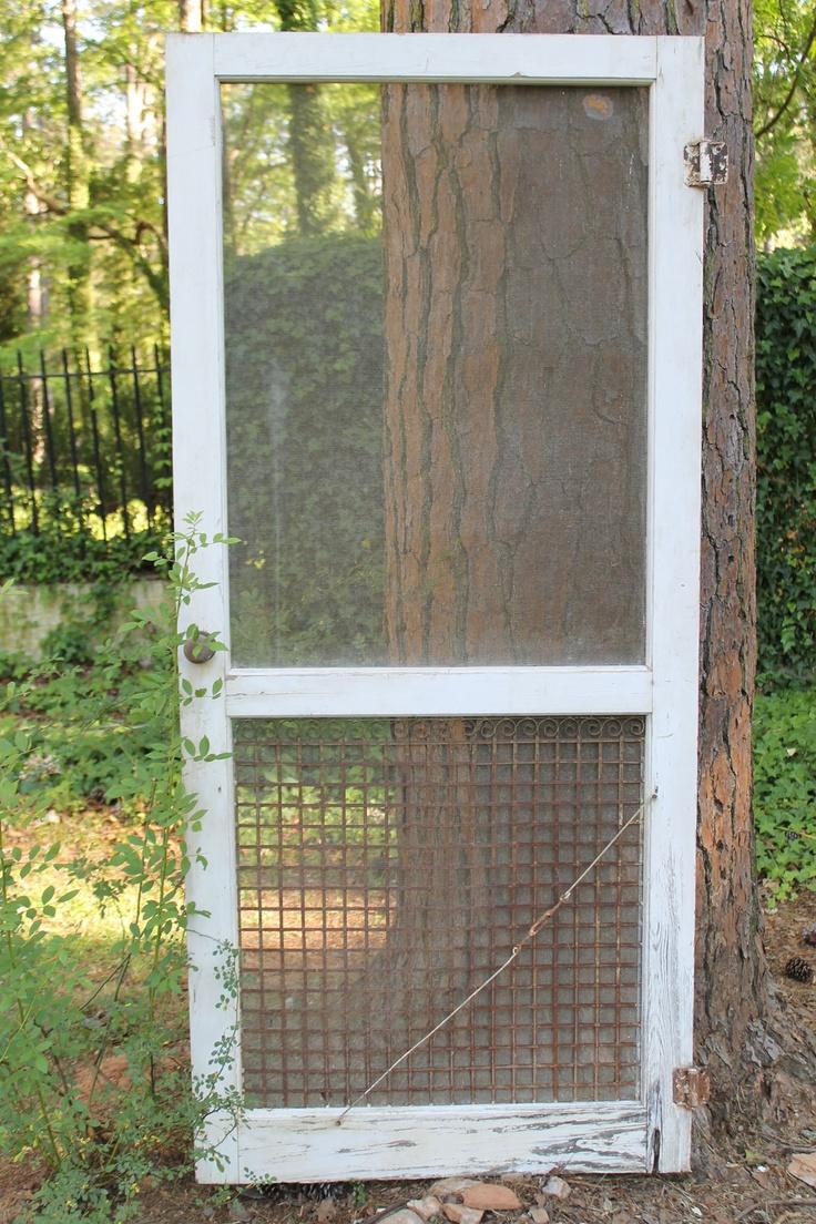 vintage screen door.. I have this!