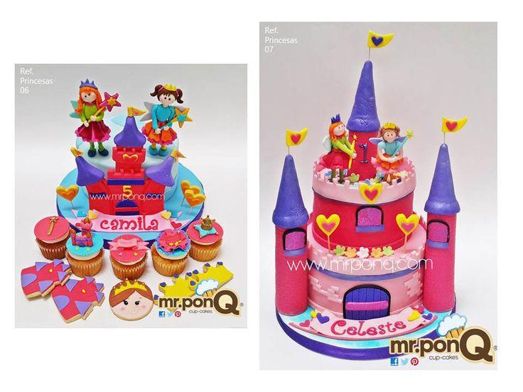 Torta y cupcakes princesas