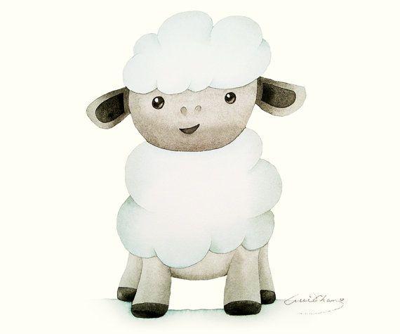 Watercolor Painting - Sheep illustration