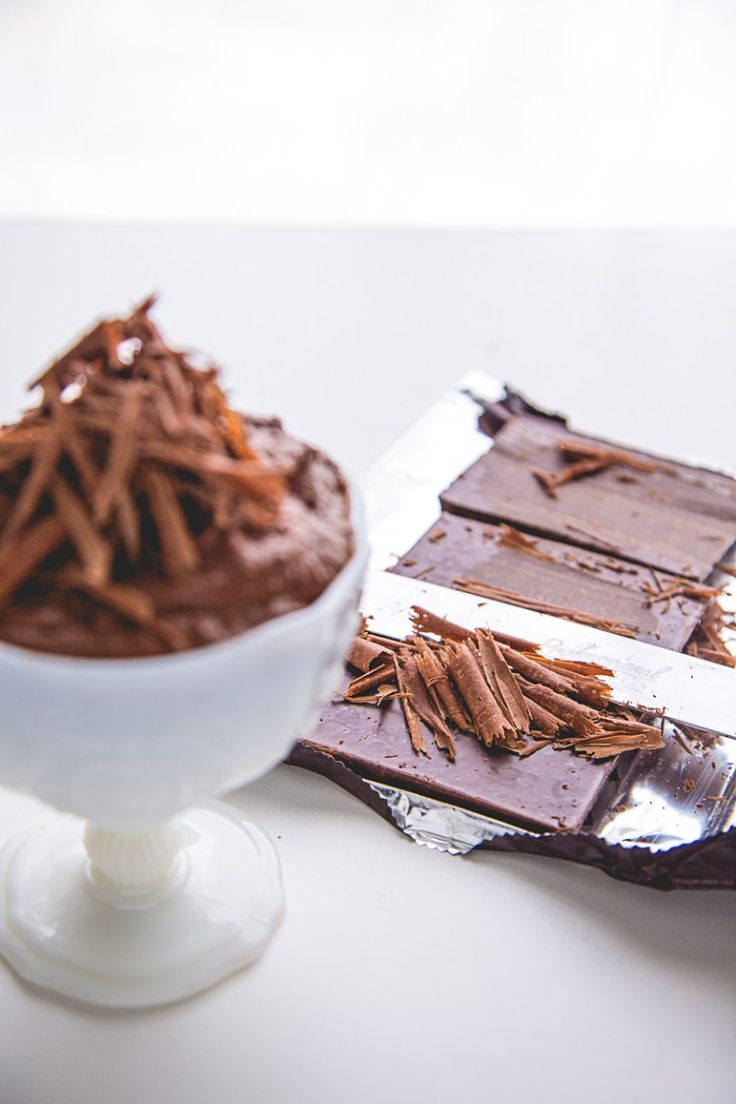 Sweet Magazine - No Bake Two Ingredient Chocolate Coconut Mousse