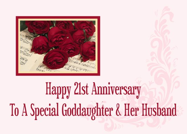 Goddaughter And Her Husband 21st Anniversary Card Ad Affiliate