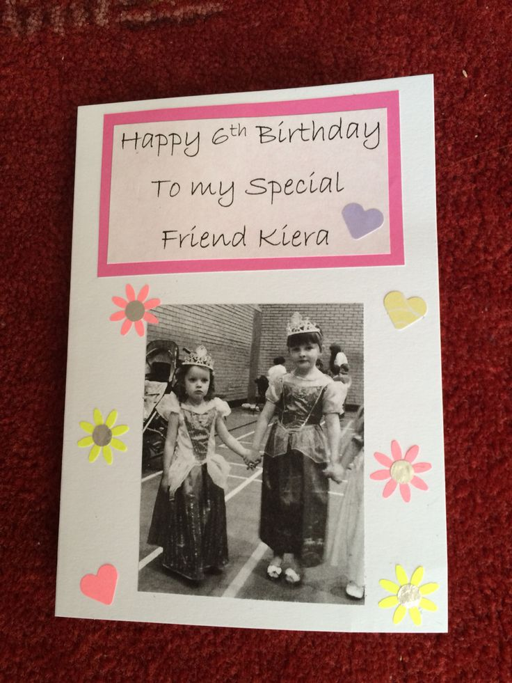 Handmade Card for My Daughters Friend on her 6th Birthday (2015)