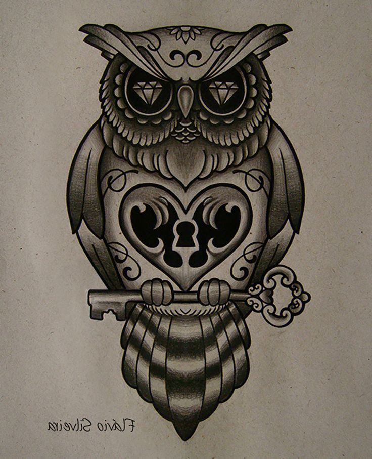 Key Tattoos Designs Ideas And Meaning: Best 20+ Owl Tattoo Meaning Ideas On Pinterest