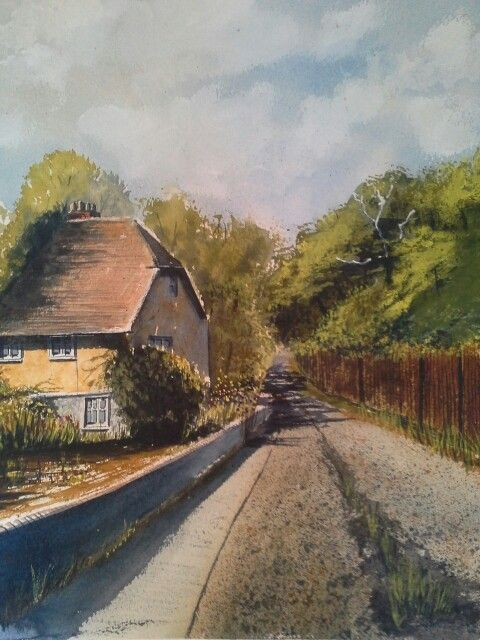 Watercolour , place near Firle near lewis, please buy me, martinheneke@live.co.uk
