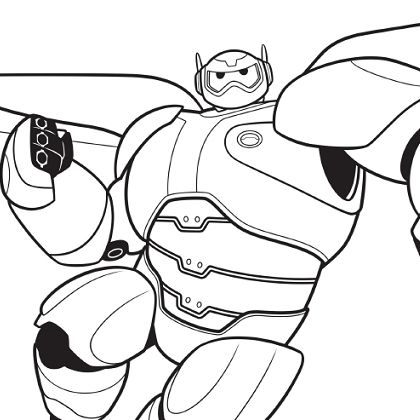 7 best baymax coloriages images on Pinterest Baymax, Coloring - best of coloring book pages marvel