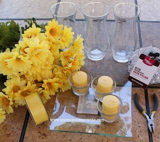 ouragan vases bougie daisy maîtresse, décor à la maison, la décoration saisonnière de vacances, les fournitures dont vous aurez besoin