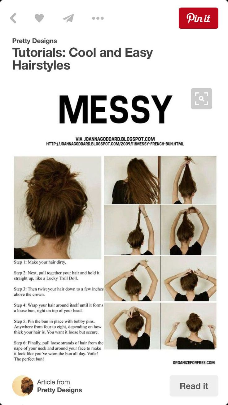 17 Most Universal Showy Cute Straight Hairstyles Messy Buns
