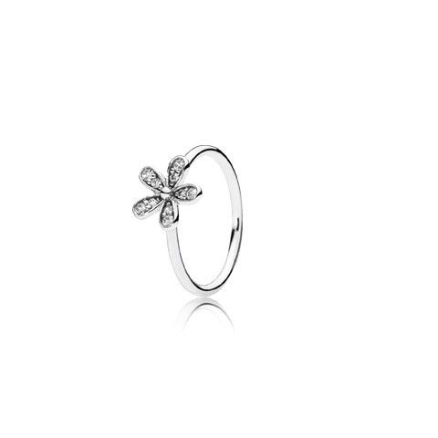 Sweet as a daisy, this sterling silver Dazzling Daisy floral ring perfectly captures the innocent beauty of this unassuming flower. With its carefully crafted sparkling petals, this ring is gorgeous in its own right, but gains an extra dimension when stacked with the matching Dazzling Daisies three flower ring.    * PANDORA offers European even number ring sizing. If your finger measures between ring sizes we recommend selecting the next larger size.