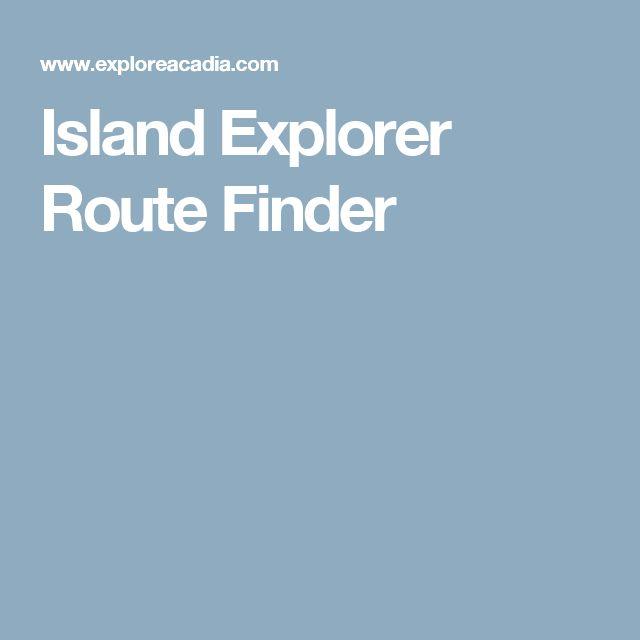 Island Explorer Route Finder