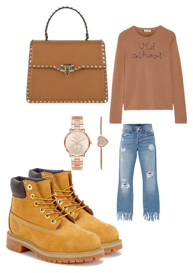 """""""Untitled #204"""" by adrianna-nicole-smith on Polyvore featuring 3x1, Lingua Franca, Timberland, Valentino and Michael Kors"""