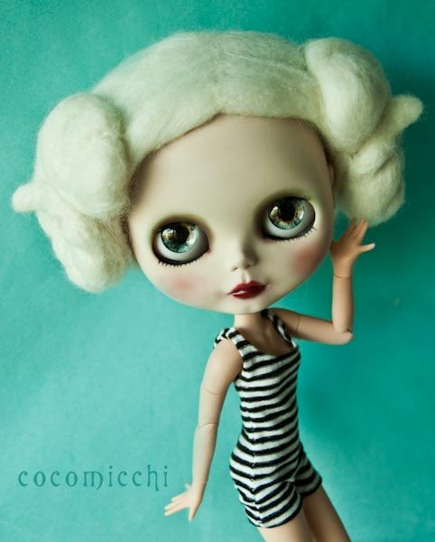So unique a felted wig by cocomicchi