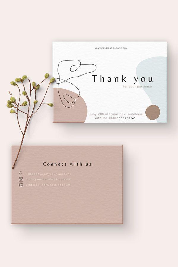 Thank You For Your Order Cards Business Stationery Business Etsy Di 2021 Kartu Nama Kartu Nama Bisnis Kartu