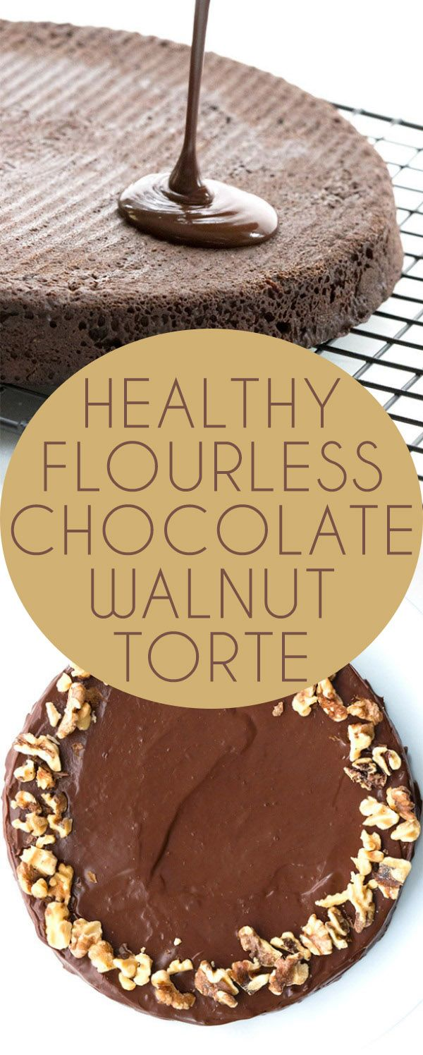 This delicious flourless chocolate torte is made with walnuts. Healthy low carb dessert everyone will love.