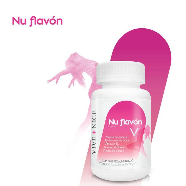 NU FLAVÓN El desequilibrio hormonal no es exclusivo de las mujeres. Es cierto que los síntomas del síndrome premenstrual, tales como cambios en el estado de ánimo, irritabilidad, depresión, ansiedad, retención de fluidos, inflamación, dolor de senos, cefalea, etc. afectan al 75% de las mujeres.   Nu flavón Interviene en la regulación de la temperatura corporal Ayuda a combatir trastornos hormonales independientemente de la edad.