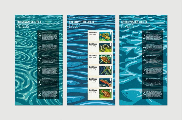 Danielle Smith Royal Mail Post & Go: Fresh Water Life stamps