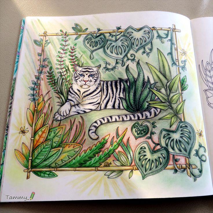 White Tiger Magical Jungle Johanna Basford