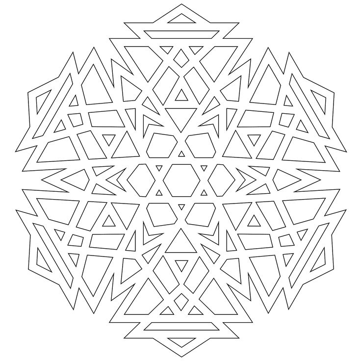 A Half Dozen Snowflakes To Color Printable BoxMandala ColoringAdult