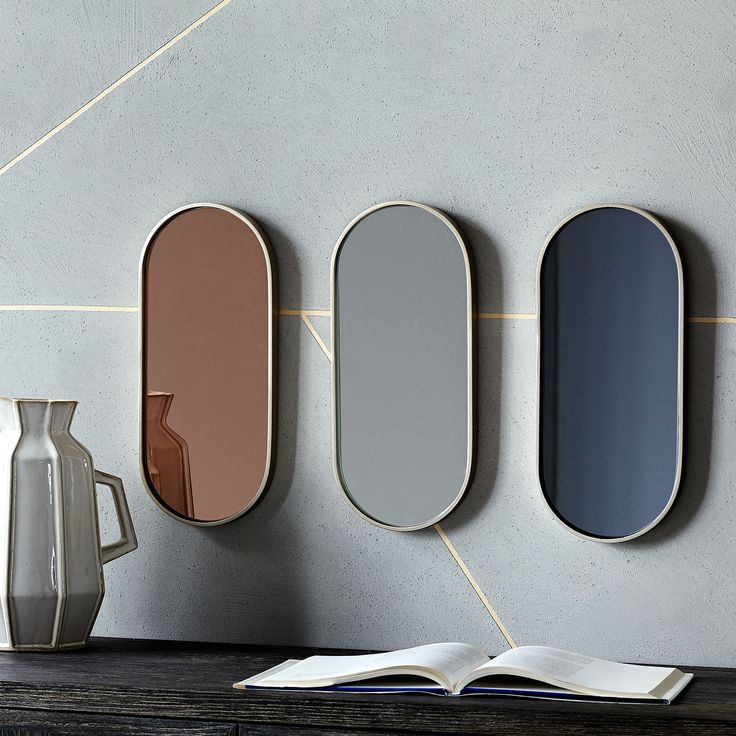 Decorative Wall Mirrors Get a Colorful Makeover
