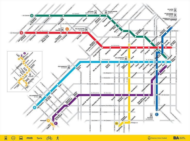 The Best Mapa Subte Ideas On Pinterest Mapa Del Metro Mapa - Argentina subway map