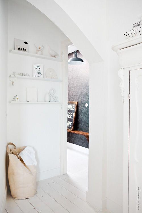 pure warm white interior