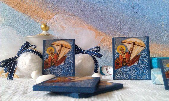 Saint Nicholas saving sailors mini icon 10 pieces by angelicon