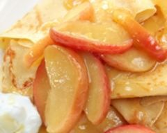 Crêpes au cidre et aux pommes - Une recette CuisineAZ