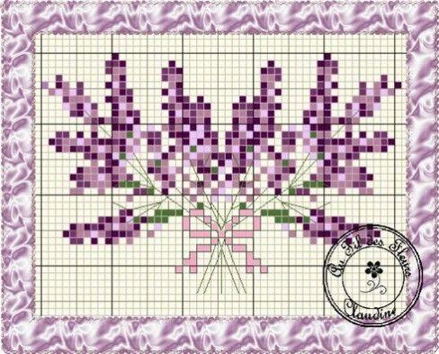 Double Lavender free chart on Au Fil des Fleurs (site is in French) at http://au-fil-des-fleurs.over-blog.com/article-double-lavande-grille-gratuite-107242556.html