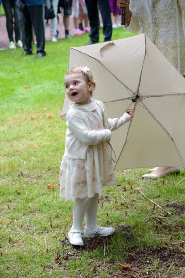 Princess Estelle of Sweden attends the Victoria Day celebrations of her Mother's 37th Birthday, at Solliden on 14.07.2014 in Oland, Sweden.