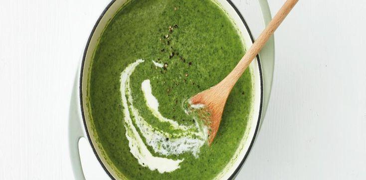 Krémová špenátovo-fazolová polévka