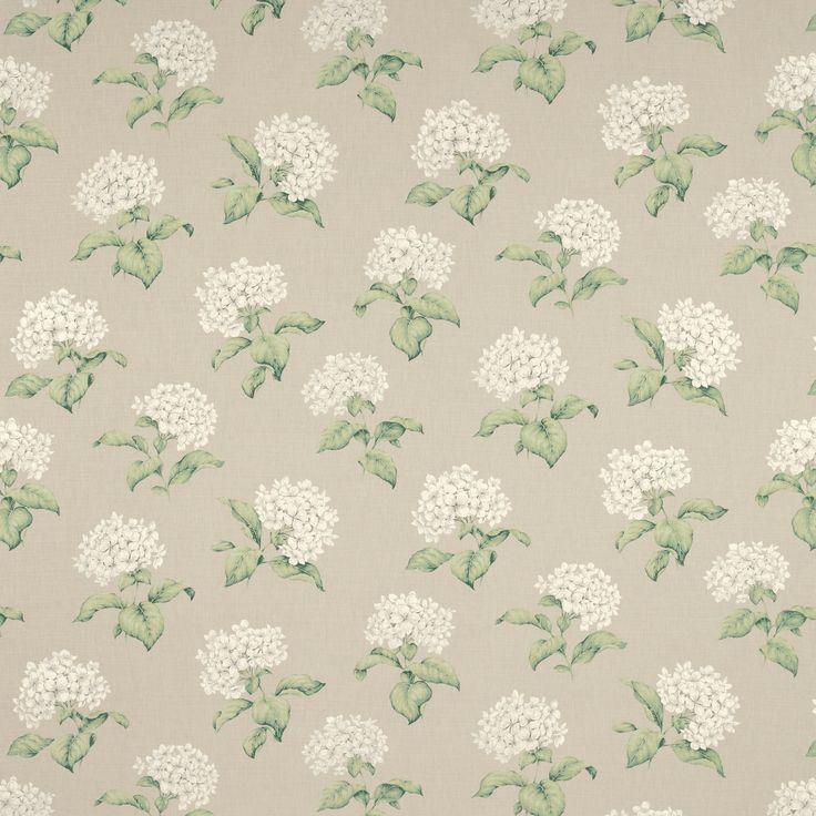 Laura Ashley Heligan Floral Linen Cotton Fabric Linen