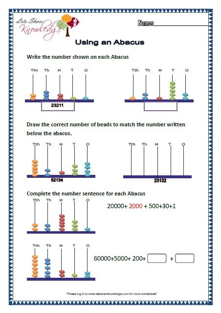 Image Result For Math Worksheets For Abacus Count Class 1