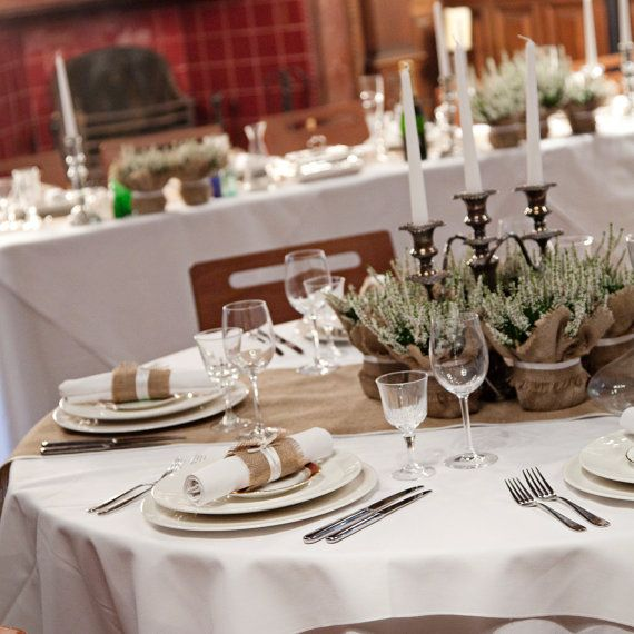 Rustic Wedding Decoration burlap plant wrap by BaloolahBunting