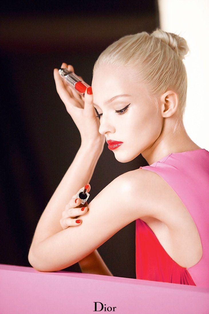 Sasha Luss Shines in Dior Addict 2014 Fluid Stick Ad Campaign