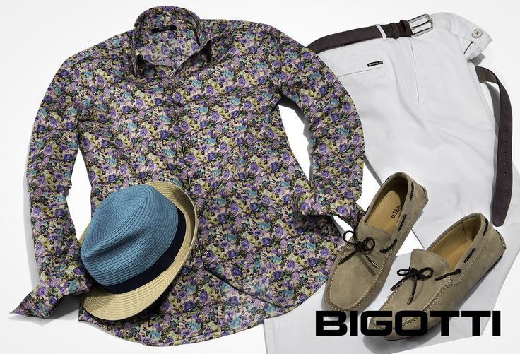 #Printed #shirt , #chinos & #moccasins – #best #summer #combination ! Up to 50% OFF in #Bigotti #men #clothing #stores and on www.bigotti.ro
