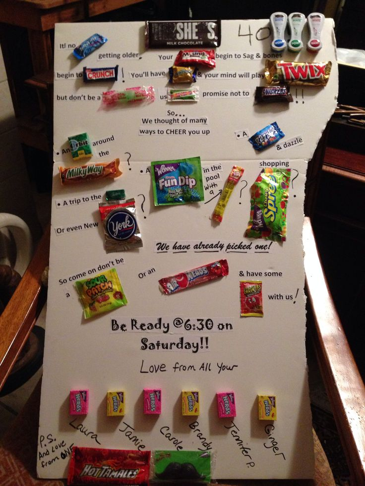 Candy bar sayings Friends 40th birthday | crafts ...