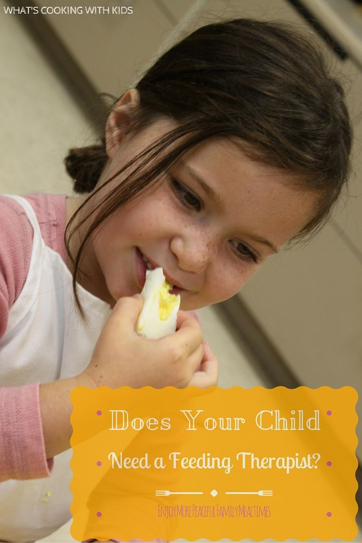 Mealtime can be exasperating for some families. If you struggle feeding your child, a feeding therapist can solve these common problems. via What's Cooking with Kids