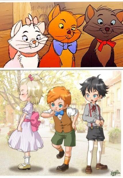 Super drawing cartoon animals disney characters anime version Ideas