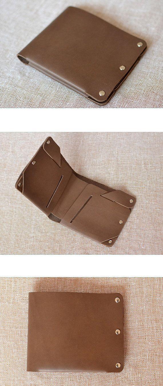 Mens Leather Wallet handmade wallet vintage Slim by Yesterwish