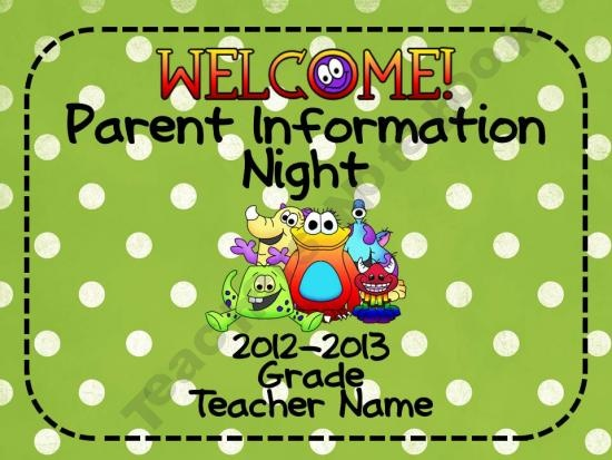 best back to school night images on, Powerpoint