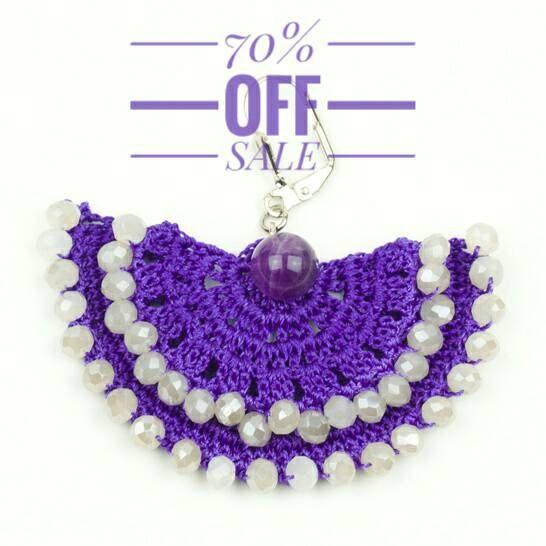 70% OFF Earrings Handmade Ethnic Boho Crochet Large