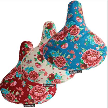 BEG Basil Bloom Saddle Cover, vintage Dutch bicycles from BEG