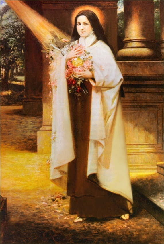 """""""I will spend my heaven doing good on earth"""" -- St. Therese's promise"""