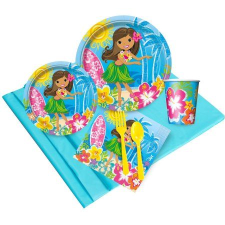 Luau Party Pack for 24, Multicolor
