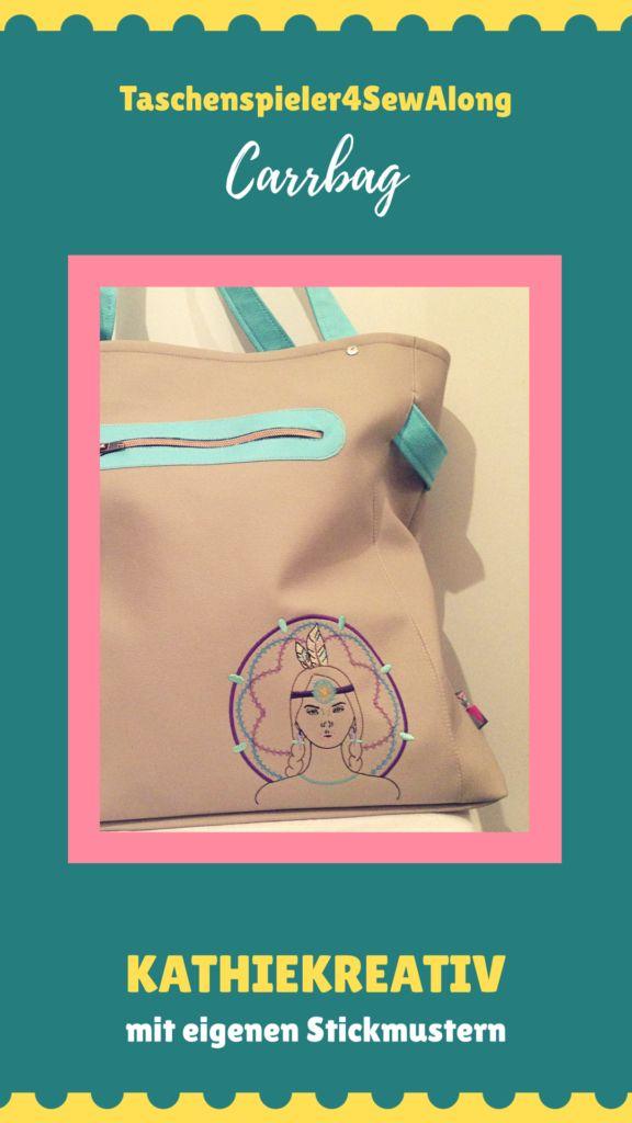 KathieKreativ näht Carrybag - mit eigenen Stickmustern