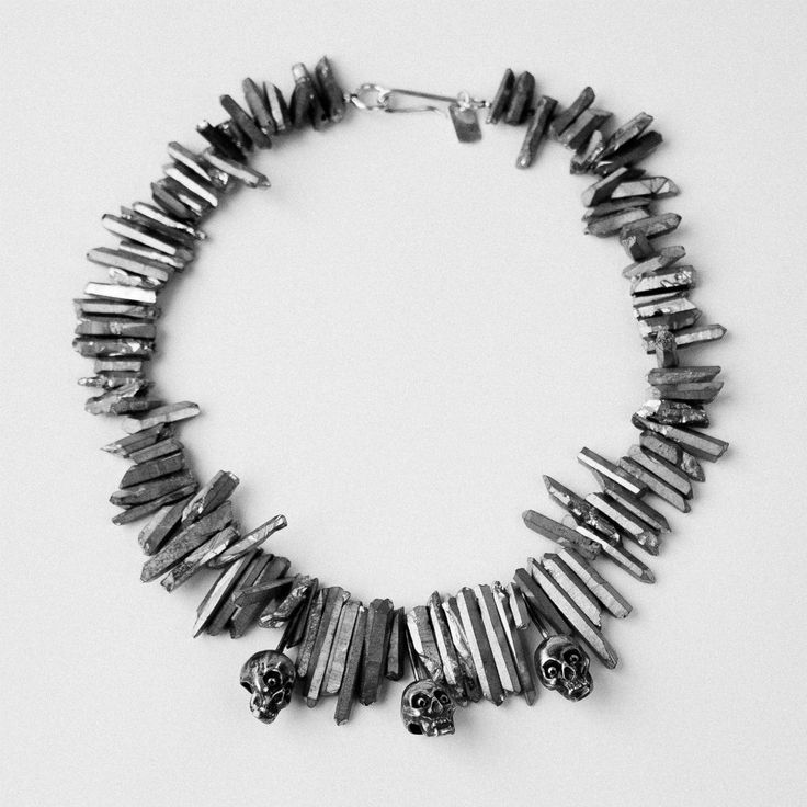 Silver and quartz necklace from African Voodoo Collection by NOMAD jewellery & accessories. Exploring the esoteric traditions of Africa, creating spiritual connections between her people.