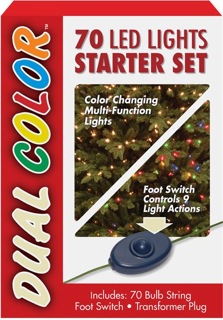 National Tree LS21-801-70 70 Bulb Dual Boxed Light- Low Voltage LED Lights Starter Set- 9 Function Footswitch and Transformer